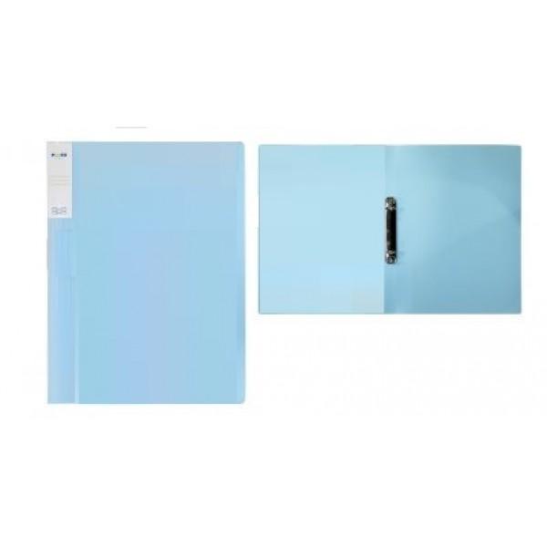 Mape ar 2 riņķiem ELLER A4 formāts, platums 20 mm, PP materiāla, zila