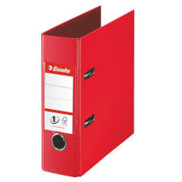 Mape reģistrs ESSELTE VIVIDA No1 Power PP A5 formāts 75mm, sarkana