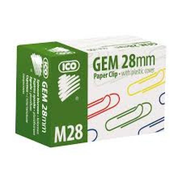 Saspraudes ICO 28 mm, krāsainas.100 gab. / iepakojumā