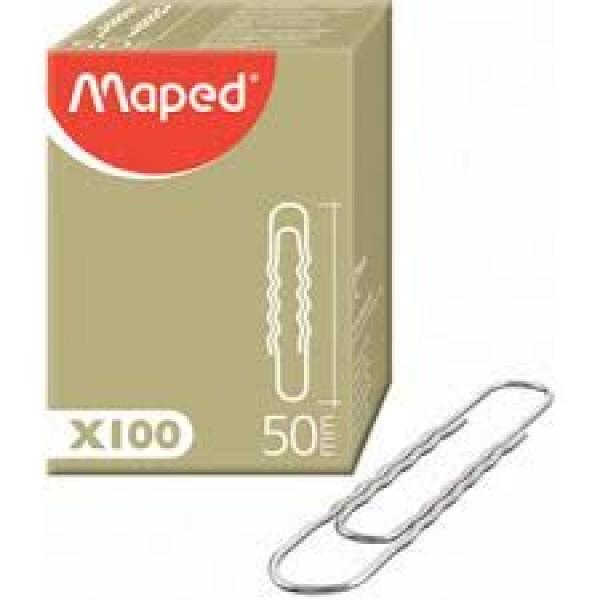 Saspraudes MAPED 50 mm, 100 gab. / iepakojumā