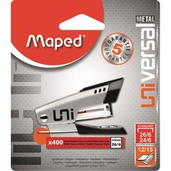 """Skavotājs MAPED """"Universal Mini Metal""""№24 + 400 skavas"""