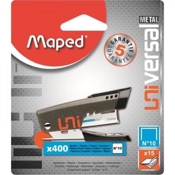 """Skavotājs MAPED """"Universal Mini Metal""""№10 + 400 skavas"""