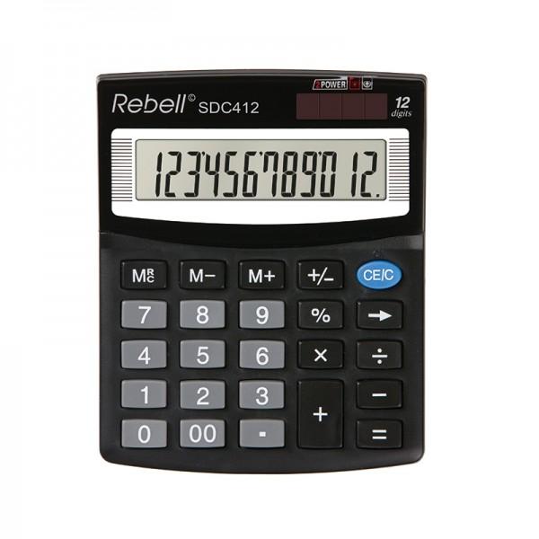 Kalkulators REBELL SDC 412, melns