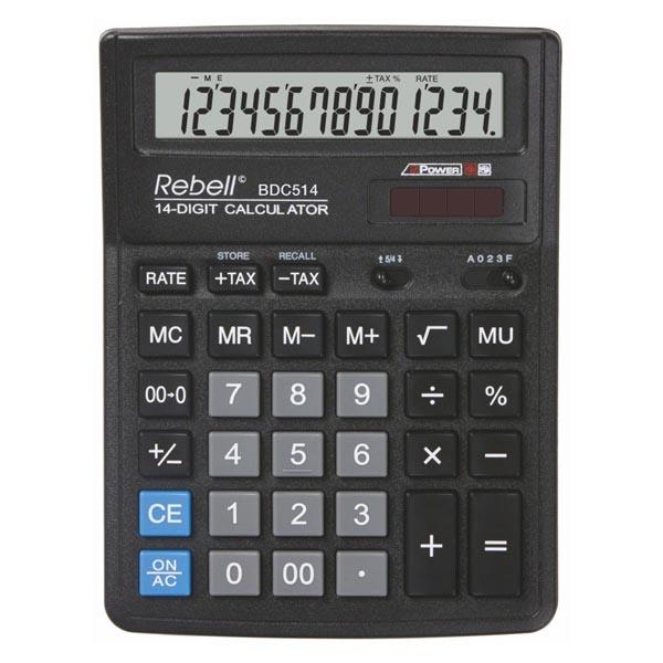 Kalkulators REBELL BDC514, melns