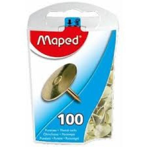 Piespraudes MAPED, zelta krāsā, 100 gab./ iepakojumā