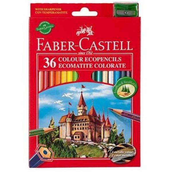 Krāsainie zīmuļi ar bruņinieku pili 36 krāsas
