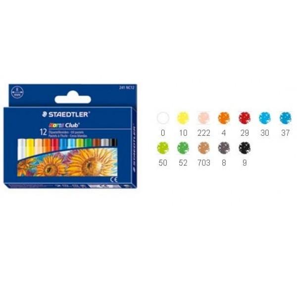 Eļļas pasteļkrītiņi, 12 krāsas