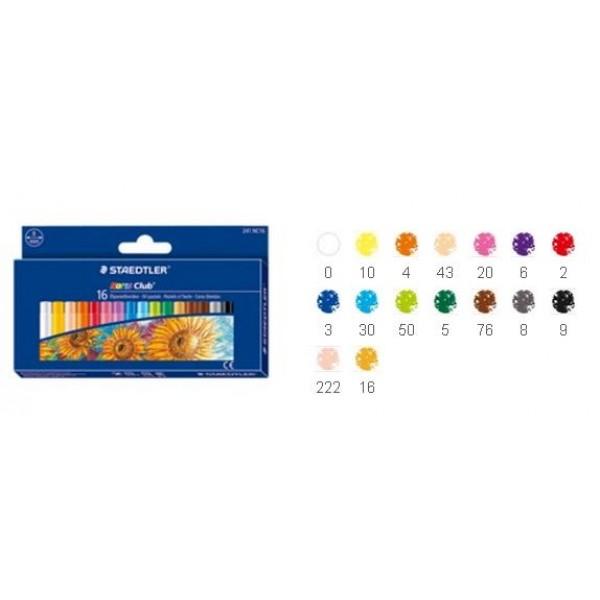 Eļļas pasteļkrītiņi, 16 krāsas