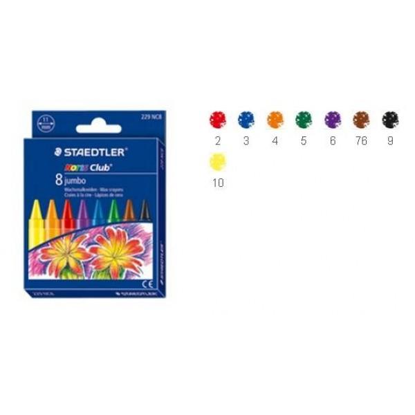 Vaska krītiņi Noris Club JUMBO, 8 krāsas