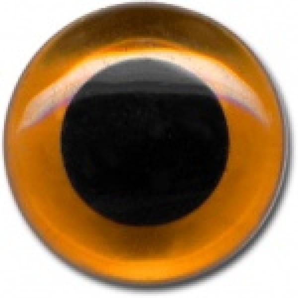 Dzintara krāsas stikla acis MEYCO, 2gab