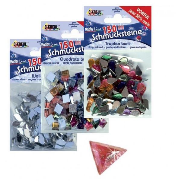 Mākslīgie dārgakmeņi HL, krāsaini trīsstūri