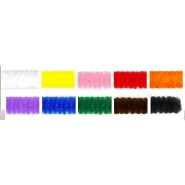 Pūkainās stieplītes, krāsainas