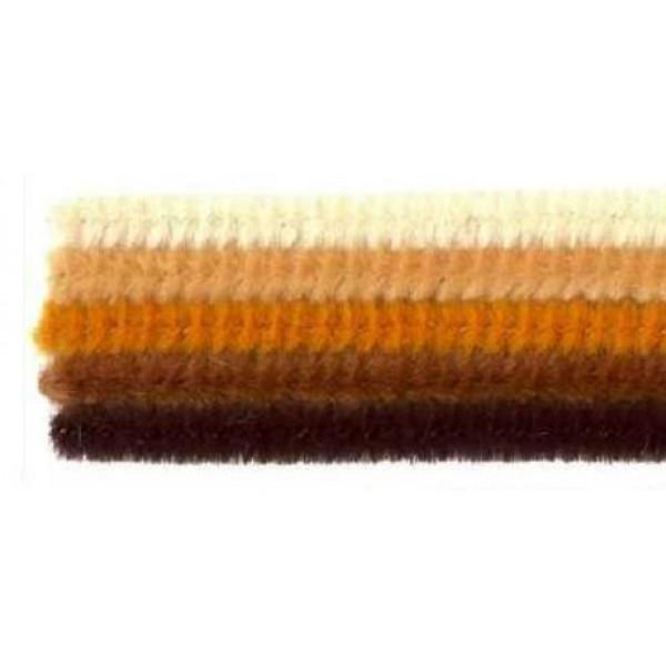 Pūkainās stieplītes, brūno toņu komplekts