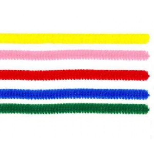 Pūkainās stieplītes, 5 krāsu komplekts