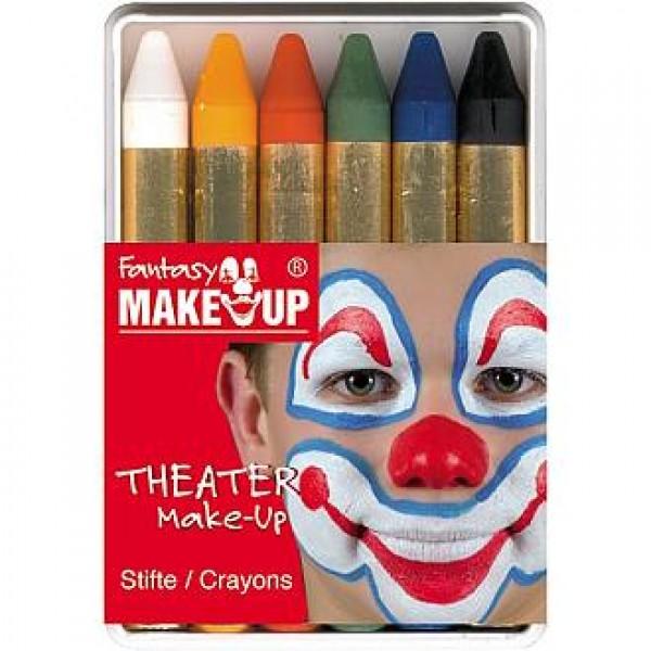 Fantasy MakeUp ķermeņa/sejas krāsu krītiņi, 6gab