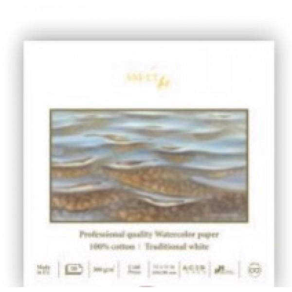 Akvareļu albums SMLT PRO 100% kokvilna 28x28 cm