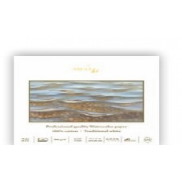 Akvareļu albums SMLT PRO 100% kokvilna panoramas