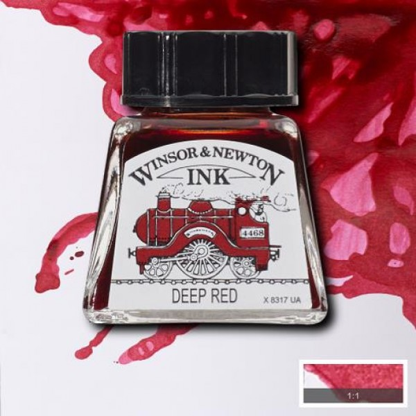 W&N tinte tumši sarkans; 14 ml