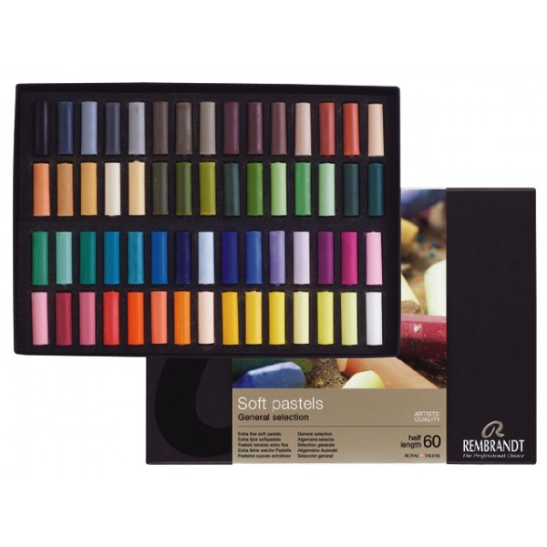 """Pasteļu komplekts Rembrandt  """"Half length (pusītes)"""", 60 krāsas"""